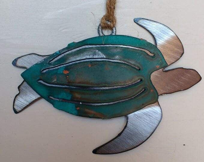 Patina Leatherback Sea Turtle Ornament