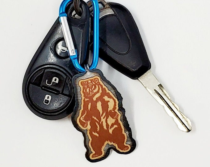 Standing Brown Bear KEYCHAIN