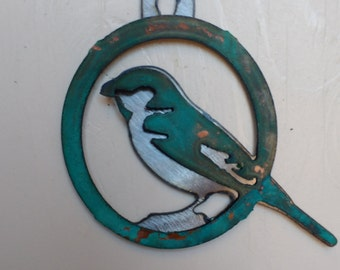 Patina Sparrow Ornament
