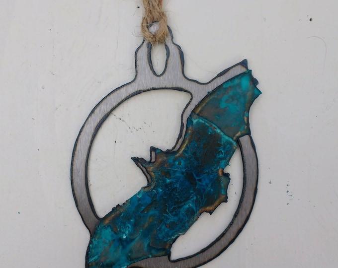 Patina Bat Ornament