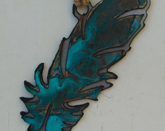 Patina Feather Ornament