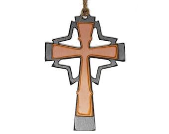 Copper Mid-Century Cross Ornament
