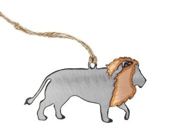 Copper & Steel Lion Ornament