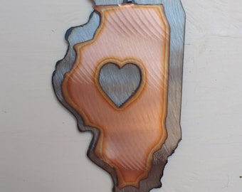 Illinois Mini Sculpture Magnet