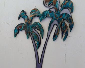 Patina Palm Trees Ornament