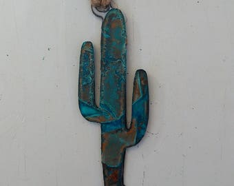 Patina Saguaro Ornament