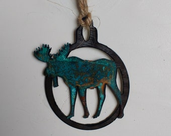 Patina Moose Ornament