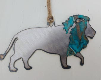 Patina Lion Ornament