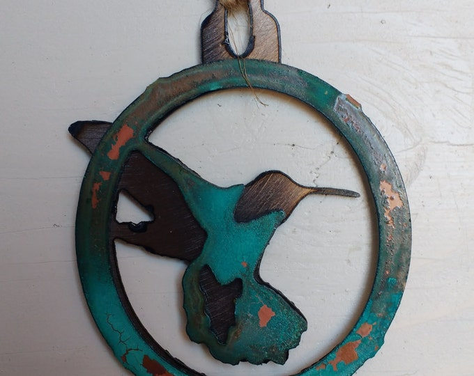 Patina Hummingbird Ornament