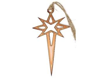 Copper North Star Ornament