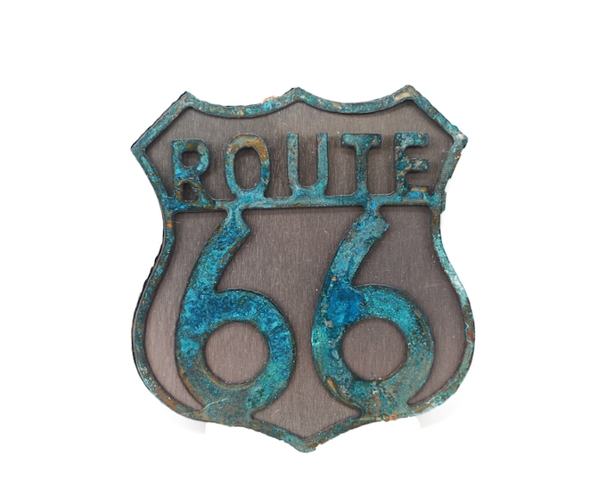 Route 66 Ornament in Patina