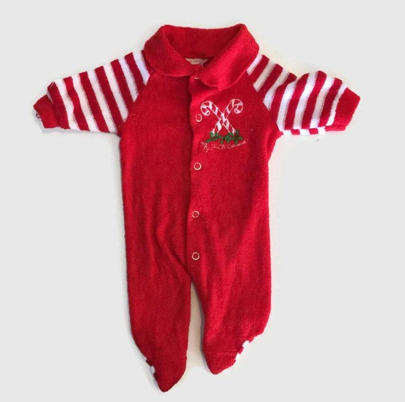 fdf8b1987cf6 Vintage Baby Pajamas-Red-Baby Pajamas-Infant Christmas