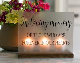 Wedding Memorial Sign - In Loving Memory Wedding Sign - Acrylic Wedding Sign - Memorial Candle - Memory Wedding Decor - Wedding Luminary