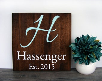 New Home Housewarming Gift - Home Established Sign - Family Established Wood Signs - Last Name Established Sign - 5th Anniversary Gift Wood
