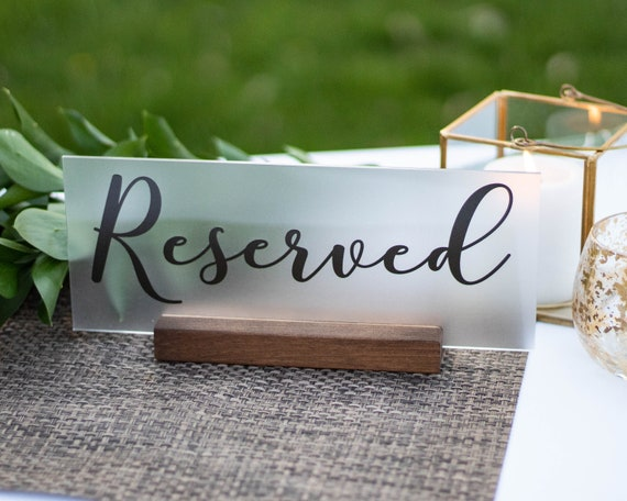 best loved a few days away wholesale price Reserved Sign Wedding - Reserved Table Sign - Acrylic Wedding Signs -  Reception Table Decor - Reserved Seats Sign