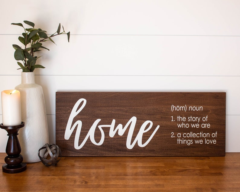Home Sign Large Wood Sign Wooden Wall Art Entryway Sign Signs With Quotes Housewarming Gift Gift For Mother