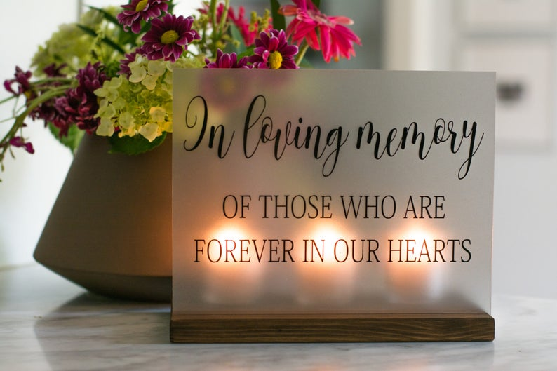 Wedding Memorial Sign  In Loving Memory Wedding Sign  image 0
