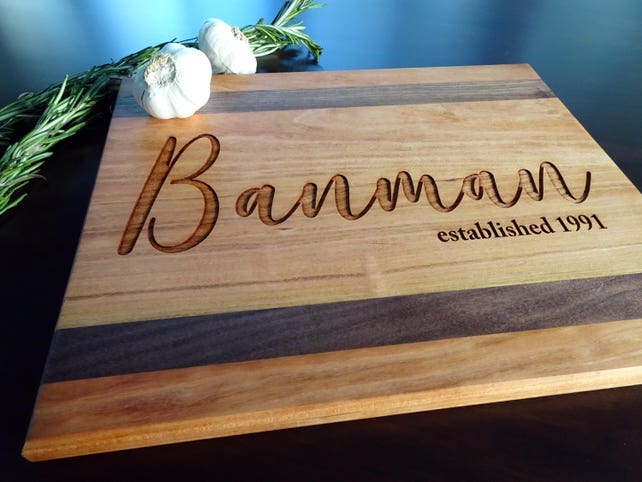 Wedding Gifts Personalized Engraved Cutting Board Wood Cutting