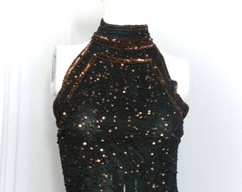 Black blouse with sequins