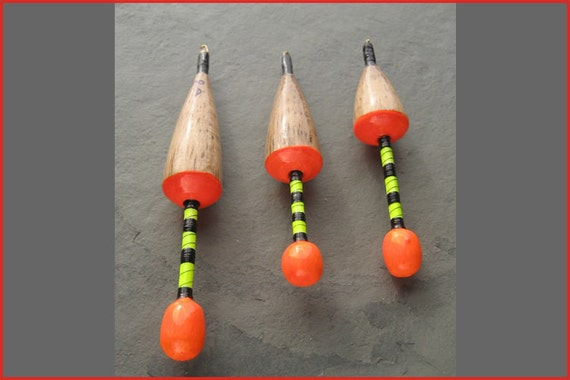 Handmade Ian Lewis fishing floats Balsa and quill chubbers 3 SSG