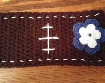 Football, ladies, ear warmer, crochet, handmade