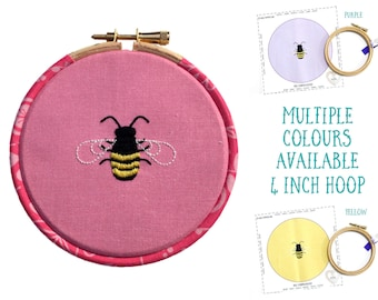 Bee Embroidery Kit Beginner | Bees Embroidery Kits | Embroidery Kit Modern | DIY Hoop Art | Hand Embroidery Patterns | Needle Craft Kit Gift