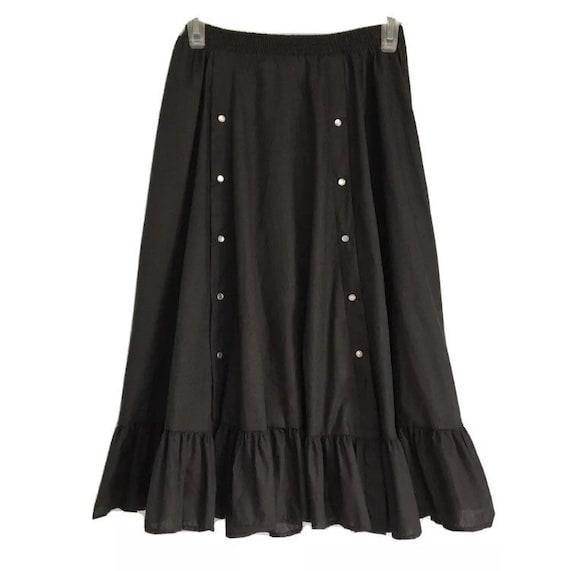 Rockmount Tru-West Ranch Wear Vintage Black Skirt