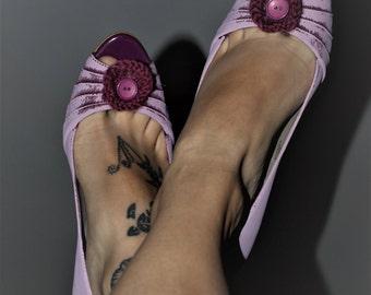 Cute retro chic kitten heels