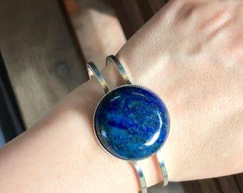 Lapis Bracelet--Lapis Lazuli Bracelet--Lapis Jewelry