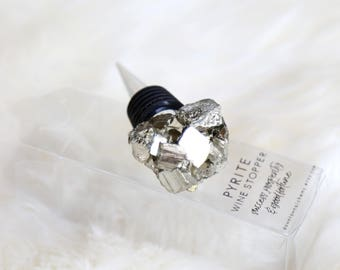 Wine Stopper--Pyrite--Housewarming Gift--Hostess Gift