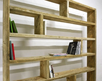Upcycle. Berlin shelf from old lumber, bookshelf