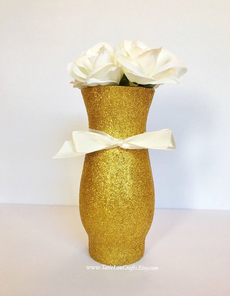 image 0 ... & Set Of 10 Vases Wedding Centerpieces Baptism Vases Sweet | Etsy