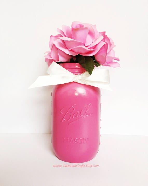 fd12224d4319 Pink Mason Jar Ball Mason JarHot Pink JarRoom