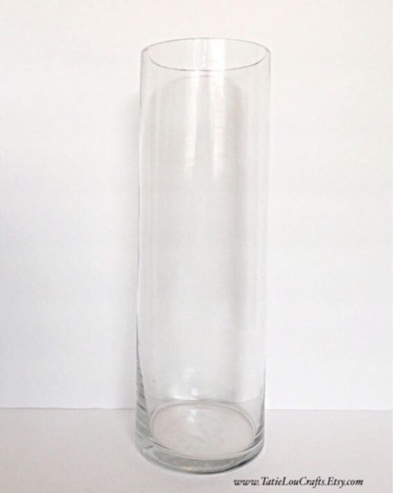 Set Of 12 12 Tall Cylinder Glass Vases Wedding Etsy