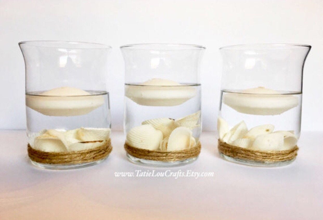 Set Of 3 Nautical Centerpieces Nautical Wedding Etsy