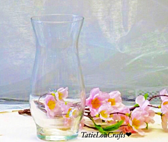 Set Of 10 Glass Hurricane Stem Vases 6 12 Tall Wedding Etsy