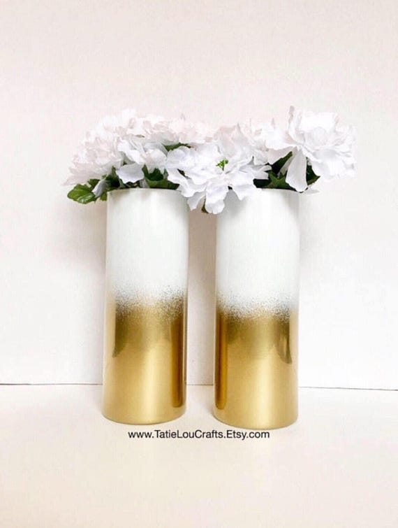 Set Of 2 Ombre Vases Wedding Centerpieces Bridal Shower Etsy
