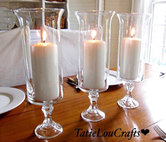 Set Of 3 13 Tall Candle Holderswedding Centerpieces Etsy