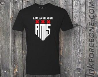 e7b3c3869 AFC Ajax Amsterdam Netherlands Football Club Soccer T Shirt Soccer UEFA