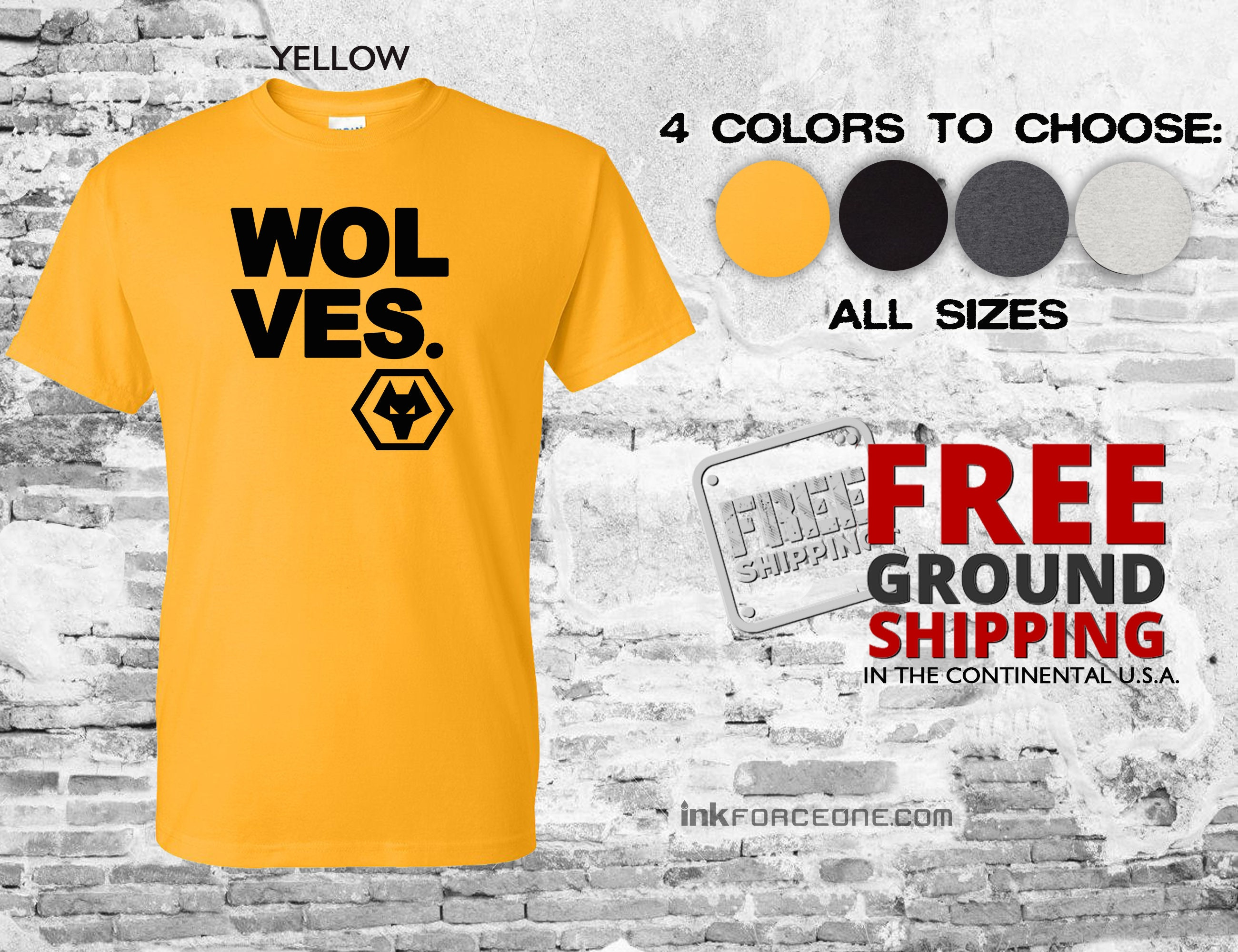 299a02f8329 Wolverhampton Wanderers FC T-Shirt Wolves The Wanderers | Etsy