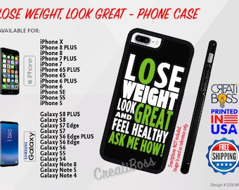 Lose Weight Phone Case for iPhone or Samsung Galaxy-Note for Health, Fitness or Wellness Coach Life, Rubber Herba Independent Distributor