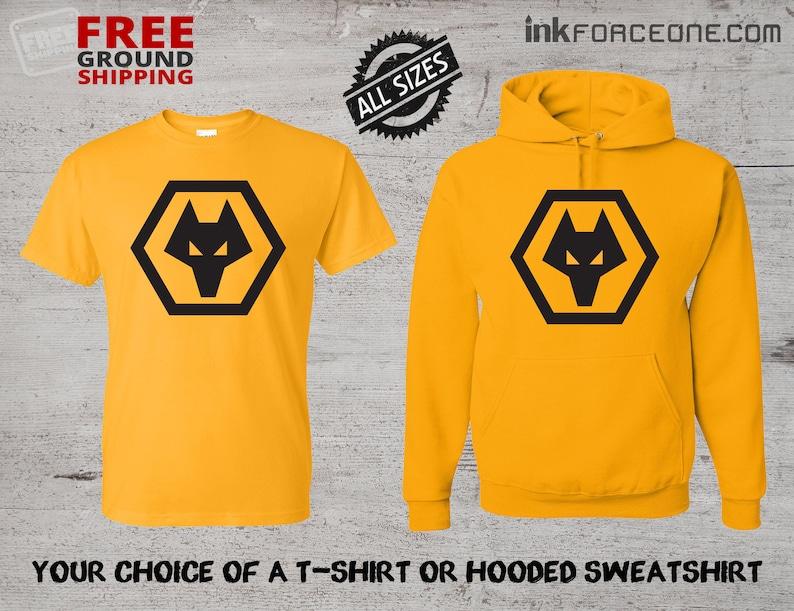 04aed4ce69b Wolverhampton Wanderers FC T-Shirt or Hooded Sweatshirt Hoodie | Etsy