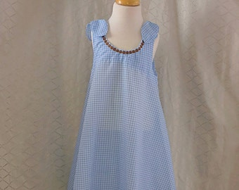 Blue Summer Dress for Girls.