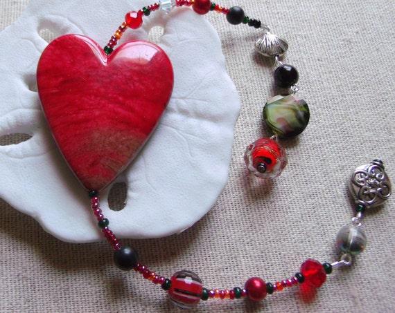 Survivor heart gift - support mental health - for Valentines Bookmark - against depression - book club  - Crimson heart  - Librarian gift