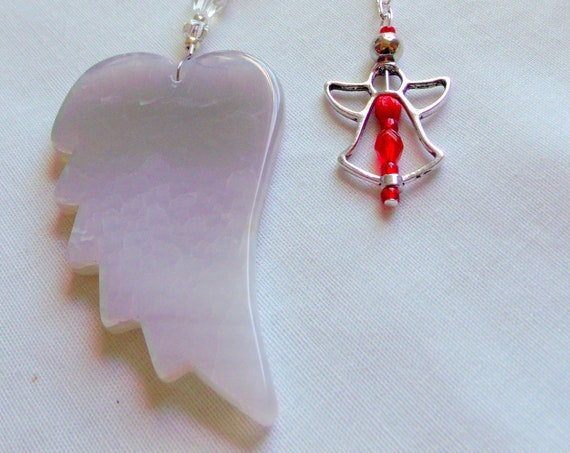 EMT wing gift - appreciation - dispatch - red car charm - emergency worker -  Ambulance driver - fire department - essential personnel