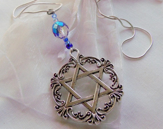 Star of David necklace - Stand for Israel gift - Hanukkah - Jewish holiday token - memento - Holocaust memory gift -silver chain with charm