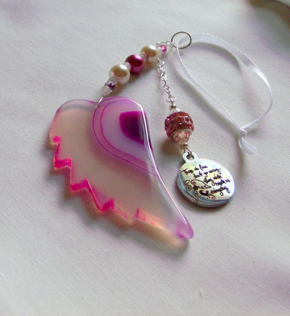 Memory grief gift - Custom Sympathy memento - Angel wing ornament - Loss of relative/friend - memorial charm - funeral gift - remember me