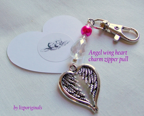 Custom nurse thank you gift - for RN  - nursing grad - wing heart journal clip - purse charm - ID badge clip - NICU - psych nurse - oncology