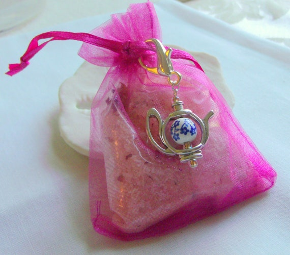 Tea party favors - garden party for women - tea time - English high tea - bridal shower gifts - fundraiser - tea pot charms - Downtown Abbey