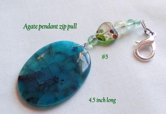 Green fidget stone - Anxiety relief necklace -  green healing pendants - agate heart bag charm - sun catcher - stress support - PTSD/OCD